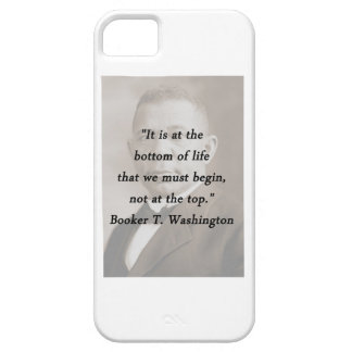 Bottom Of Life - Booker T Washington iPhone 5 Cover