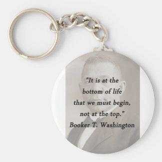 Bottom Of Life - Booker T Washington Key Ring