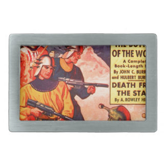 Bottom of the World Rectangular Belt Buckles