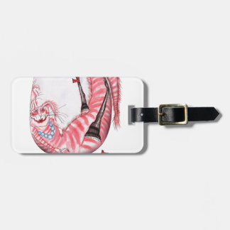 bottoms up - cartoon cat, tony fernandes luggage tag