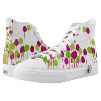 bottoms up floral lace ups printed shoes