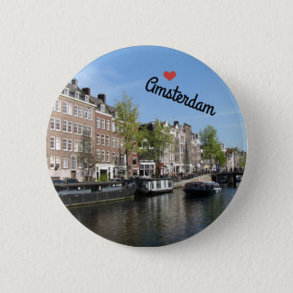 Botton/Pin ~ Amsterdam, Netherlands 6 Cm Round Badge