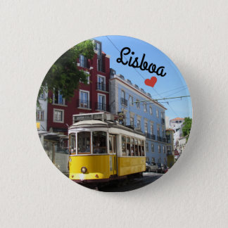 Botton/Pin ~ Lisbon, Portugal 6 Cm Round Badge