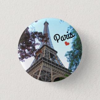 Botton/Pin ~ Paris, France 3 Cm Round Badge