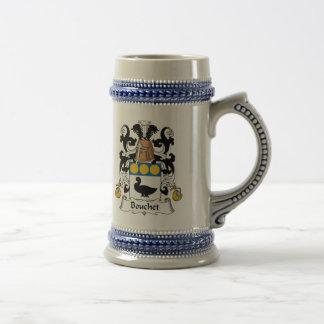 Bouchet Family Crest Beer Stein