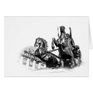 Boudicca Statue, London Card