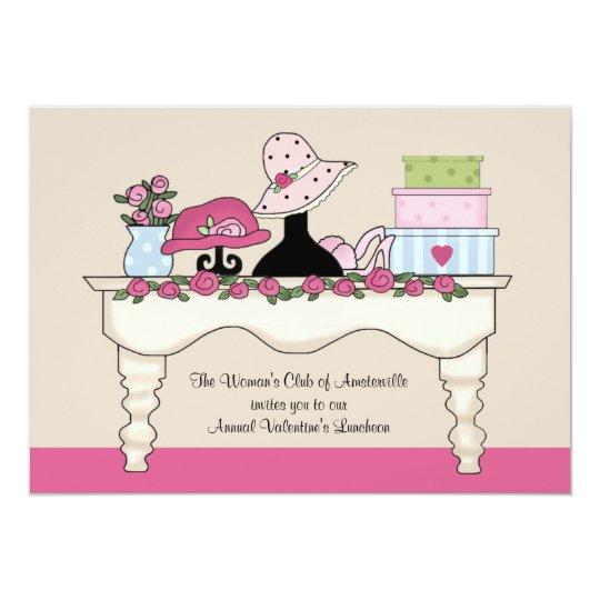 Boudoir Table Luncheon Invitation