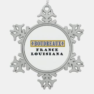 BOUDREAUX Surname Christmas Ornament