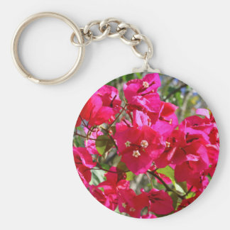 Bougainvillea Basic Round Button Key Ring