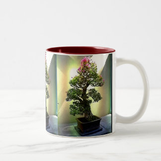 Bougainvillea Bonsai Tree Two-Tone Coffee Mug