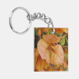 Bougainvillea Double-Sided Square Acrylic Key Ring