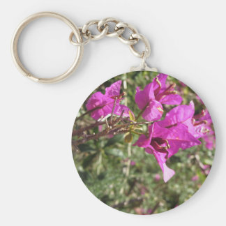 Bougainvillea flowers basic round button key ring