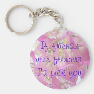 Bougainvillea Friends Basic Round Button Key Ring