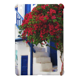 Bougainvillea growing on house in Mykonos, Greece iPad Mini Covers