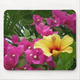 Bougainvillea & Hibiscus Mousepad