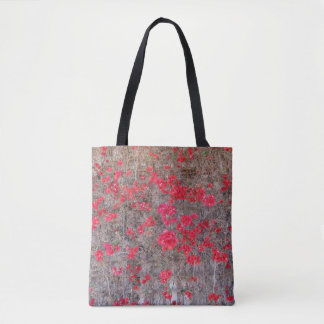 Bougainvillea San Diego Red Flowers Tote Bag