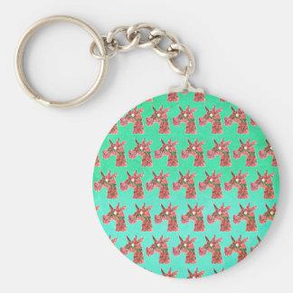 Bougainvillea Unicorn Basic Round Button Key Ring