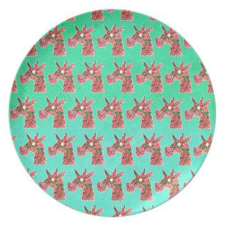 Bougainvillea Unicorn Plate