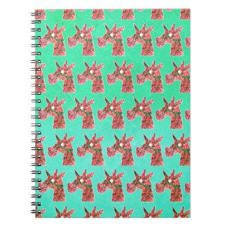 Bougainvillea Unicorn Spiral Notebook