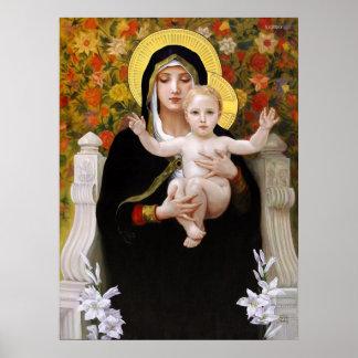 Bougeureau, La Vierge au Lys Poster