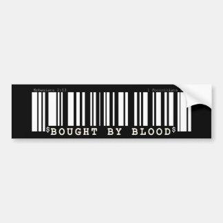 Bought by blood Christan bar code bumper sticker