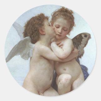Bouguereau Adolphe William Classic Round Sticker