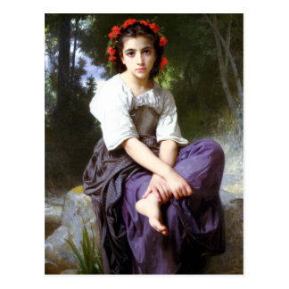 Bouguereau At The Edge of the Brook Postcard