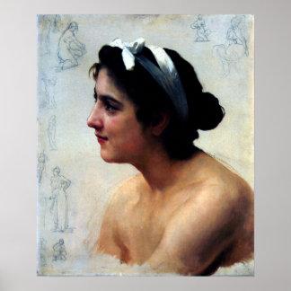 Bouguereau - Étude d'une Femme, Offrande à l'Amour Poster