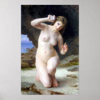 Bouguereau - Femme au Coquillage Poster