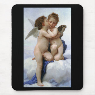 """Bouguereau, """"First kiss"""" Mouse Pad"""
