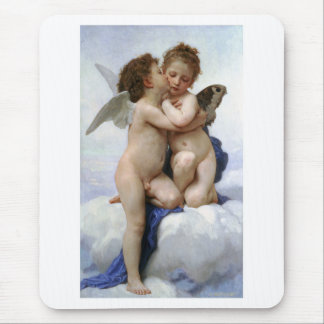 "Bouguereau, ""First kiss"" Mouse Pad"