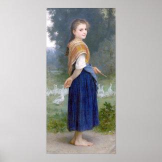 Bouguereau - Gardeuse d'Oies Poster