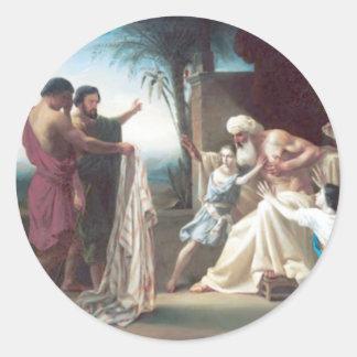 Bouguereau - Jacob Recevant le Tunique de son Fils Classic Round Sticker