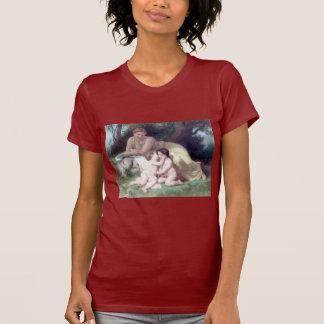 Bouguereau - Jeune Femme Contemplant Deux Enfants Tee Shirts