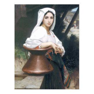 Bouguereau - Jeune Italienne Puisant de l'Eau Postcard