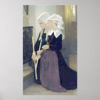 Bouguereau - Le Voeu à Sainte-Anne-d'Auray Poster