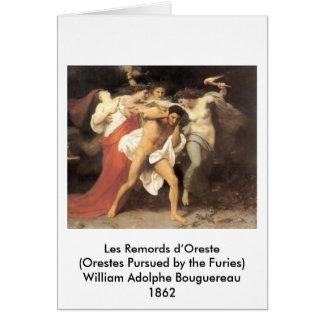 Bouguereau - Les Remords d'Oreste Card