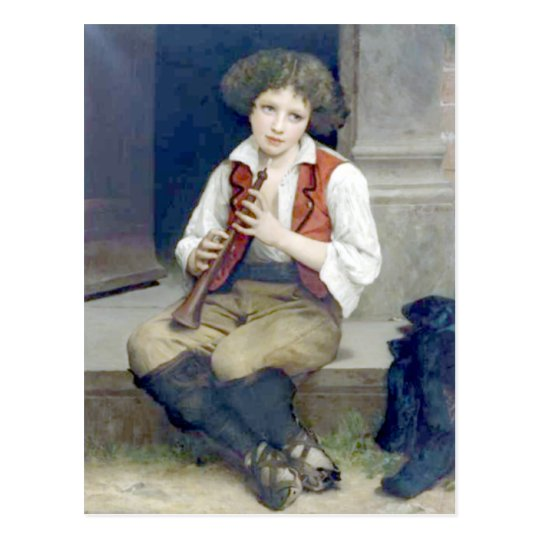 Bouguereau - Pifferaro Postcard