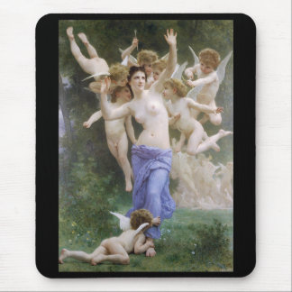 """Bouguereau, """"The Invasion"""" or """"The Wasp's Nest"""" Mouse Pad"""