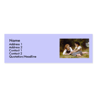 Bouguereau's 1882 The Nut Gatherers  Les noisettes Pack Of Skinny Business Cards