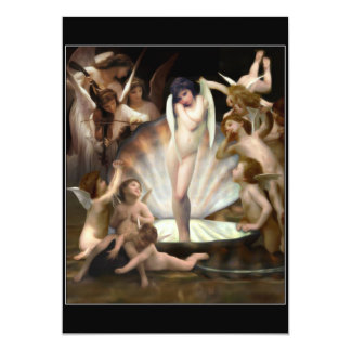Bouguereau's Angels Surround Cupid 13 Cm X 18 Cm Invitation Card