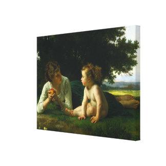 Bouguereau's Classic Painting: Temptation (1880) Canvas Print