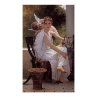 Bouguereau's Classic Painting - Work Interrupted Poster