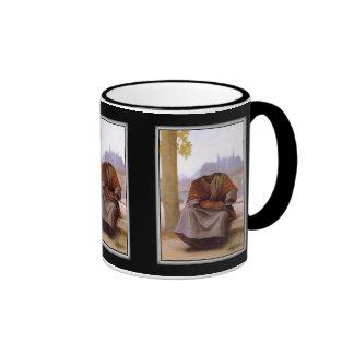 Bouguereau's The Invisible  Bohemian Ringer Mug