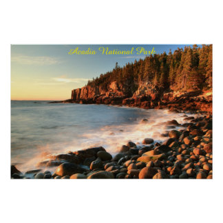 Boulder Beach Acadia National Park Poster