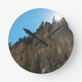 Boulder Canyon Narrows Pinnacle Round Clock