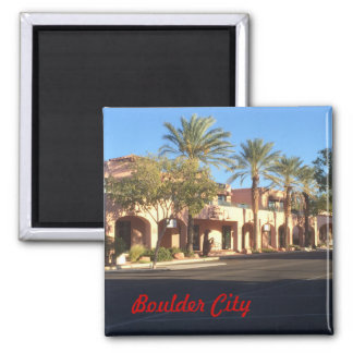 Boulder City Square Magnet