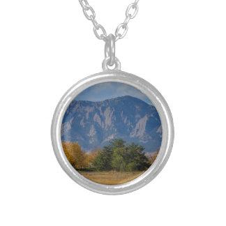 Boulder Colorado Autumn Flatiron Afternoon Silver Plated Necklace
