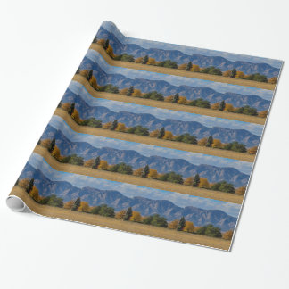 Boulder Colorado Autumn Flatiron Afternoon Wrapping Paper