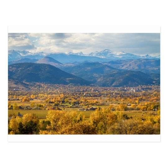 Boulder Colorado Autumn Scenic View Postcard